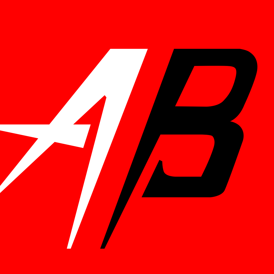 Red background Atomic Berries A/B logo